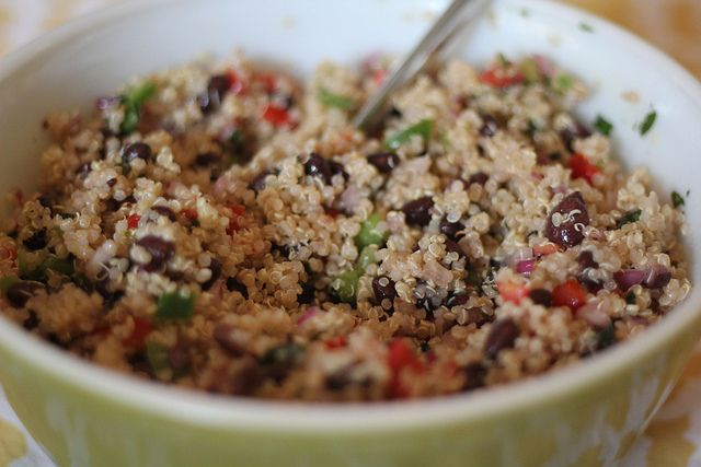 Black Bean Quinoa Salad via My Life in Transition