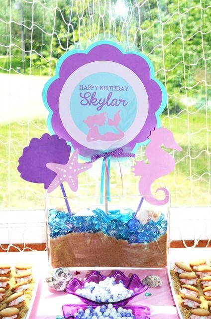 Mermaid Birthday Party decorations! See more party ideas at CatchMyParty.com!