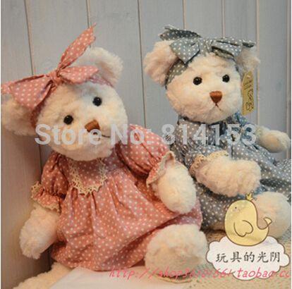 30 cm 2 pcs/par lindo casal urso de pelúcia com pano brinquedo de pelúcia stuffed teddy bear dolls meninas presente de aniversário grátis frete em Animais de pelúcia de Brinquedos & Lazer no AliExpress.com | Alibaba Group