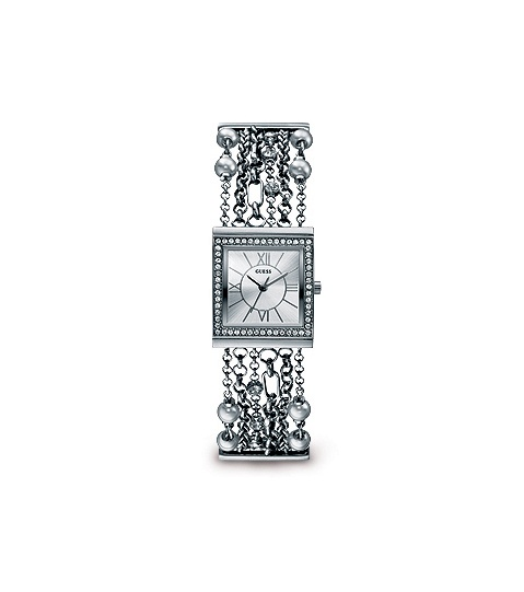 Guess: Ladies' Silver Chain Link Bracelet Watch