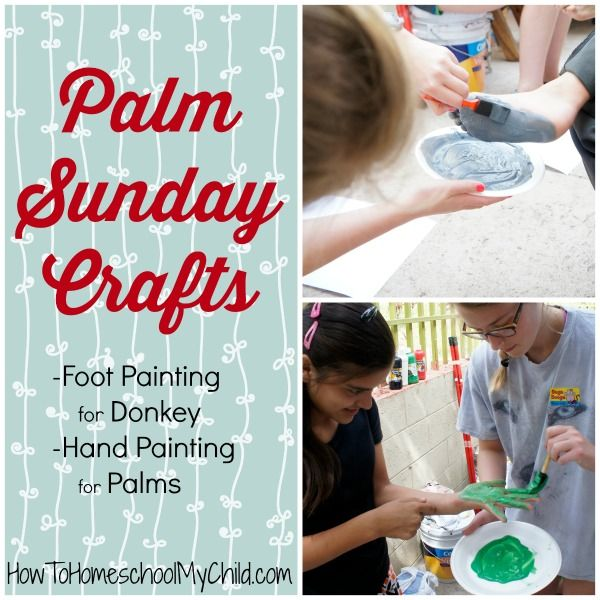 Palm Sunday Crafts for Kids - Fun painting from HowToHomeschoolMyChild.com