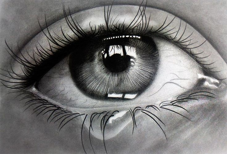 Crying eye! Pencils on paper by f-a-d-i-l on DeviantArt