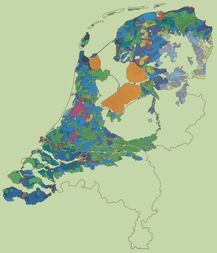 Map of Netherlands Polders