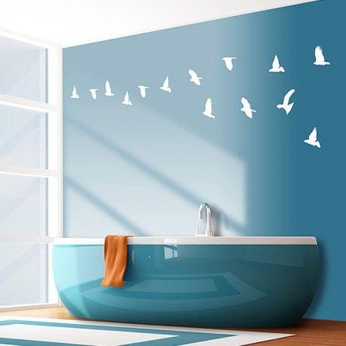 Deco salle de bain bleu marine - Decor marin pour salle de bain ...
