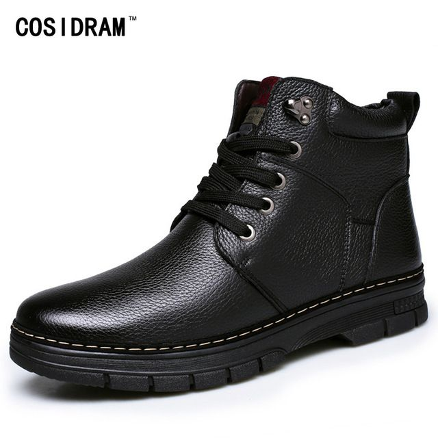 Promotion price New arriaval Winter Split Leather Men Boots Fashion Botas Hombre Martin Work Shoes For Men Plush Ankle Boots With Fur RME-237 just only $24.99 with free shipping worldwide  #menshoes Plese click on picture to see our special price for you