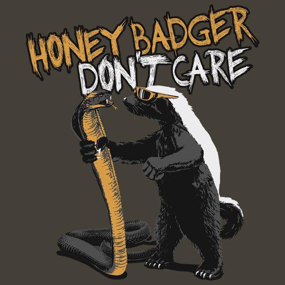 The Duck Company Honey Badger Cobra TShirt, 20.00