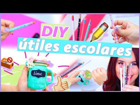 DIY DECORA TUS UTILES ESCOLARES: Tajador/sacapuntas de mason jar + lápices + plumas ♥ Jimena Aguilar - YouTube