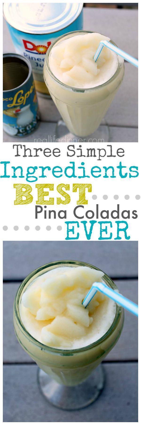 Pina Coladas (non-alcoholic