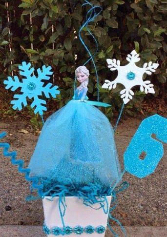 Precioso Centro de Mesa de Elsa de Frozen. Tutorial.