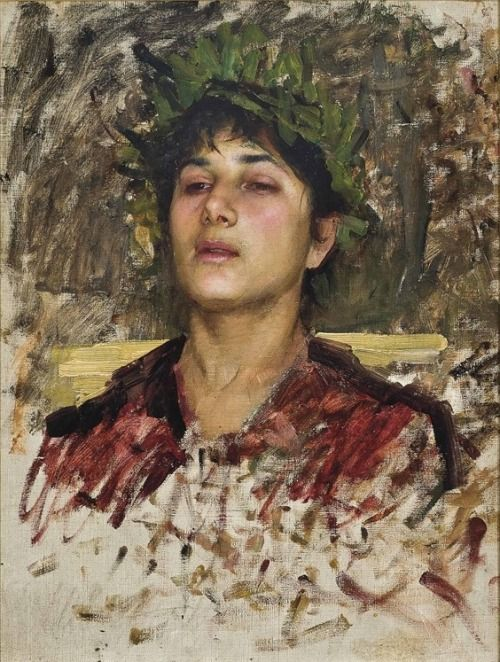 John William Waterhouse- Study of a young man