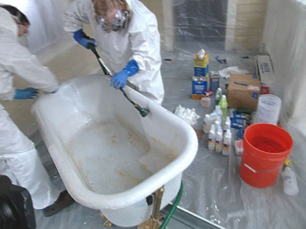 How to Reglaze a Clawfoot Tub | Tub refinishing, Tub, Cast ...