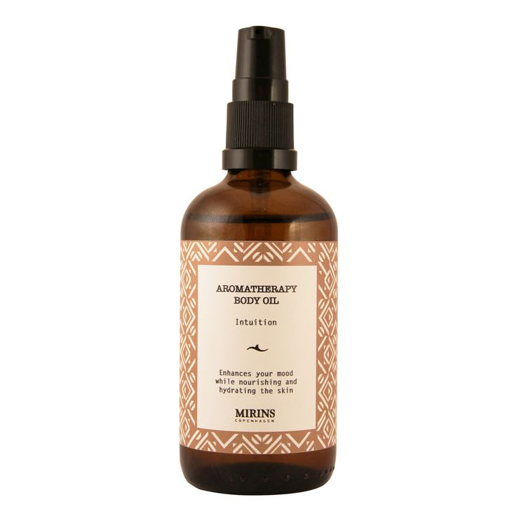 Aromatherapy Body Oil Intuition - Our Intuition aromatherapy line consists of a warming blend of patchouli, rosewood and rose geranium essential oils Hydrating and nourishing blend. Argan oil especially is rich in fatty acids and antibacterial agents. Apply after shower or bath Ingredients Apricot kernel Oil (Prunus armeniaca), Jojoba Oil (Simmondsia chinensis), Argan Oil (Argania spinosa); Essential Oils