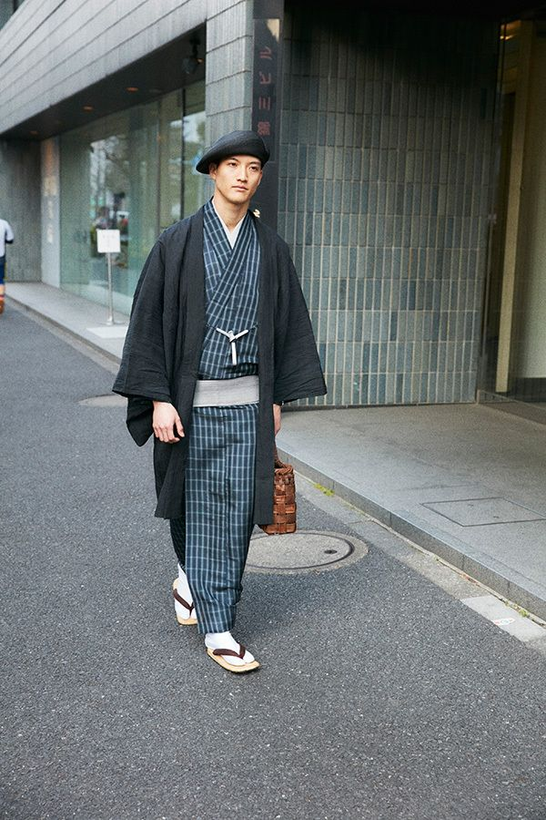 メンズきものテーラー、ワイ&サンズの17年春夏 - コモリと制作した着物&洋服に着用できるコートも | ファッションプレス