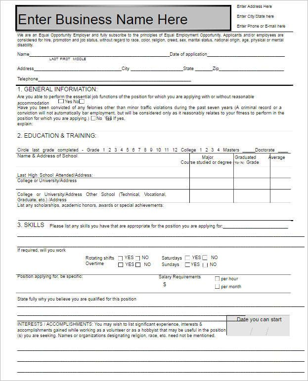 The 25+ best Employment form ideas on Pinterest World track and - Application Template