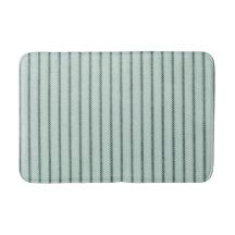"""Traditional Designs""  Celadon-Pillow Tick Green Bath Mat"