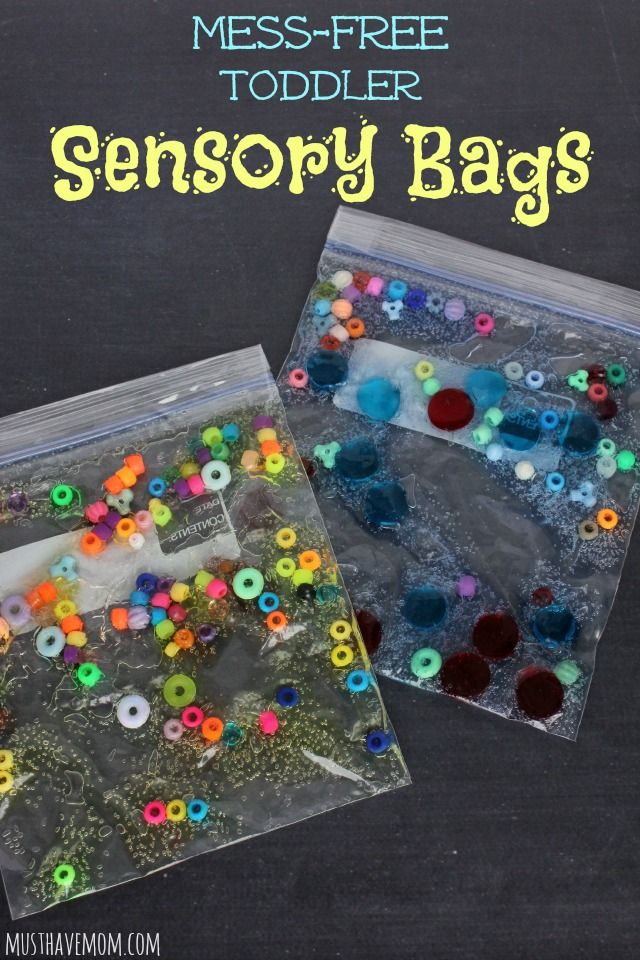 DIY Mess-Free Toddler Sensory Bags! Make these and stash them away for your next sick day. They will entertain the kids while you take a rest!
