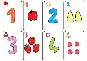 Des cartes de jeu à imprimer : pour apprendre à reconnaître les nombres- Pour associer quantité et écriture chiffrée.