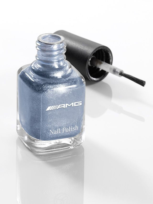 Nail polish yosemite blue B66952531 Colour:  yosemite blue  Elegant fingernails, painted in genuine vehicle colours, make a confidently stylish statement.  The colours not only have a high-quality look, they also combine perfectly with other accessories in the same paintwork colours to create a refined, coordinated look.  The nail varnish in fashionable yosemite blue has been produced by LCN for AMG and comes in an elegant black cardboard box.  - yosemite blue  - made in Germany  - 8 ml