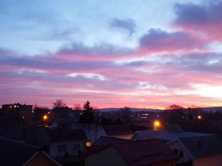 The sky is on fire! :) Tarnaveni, Romania