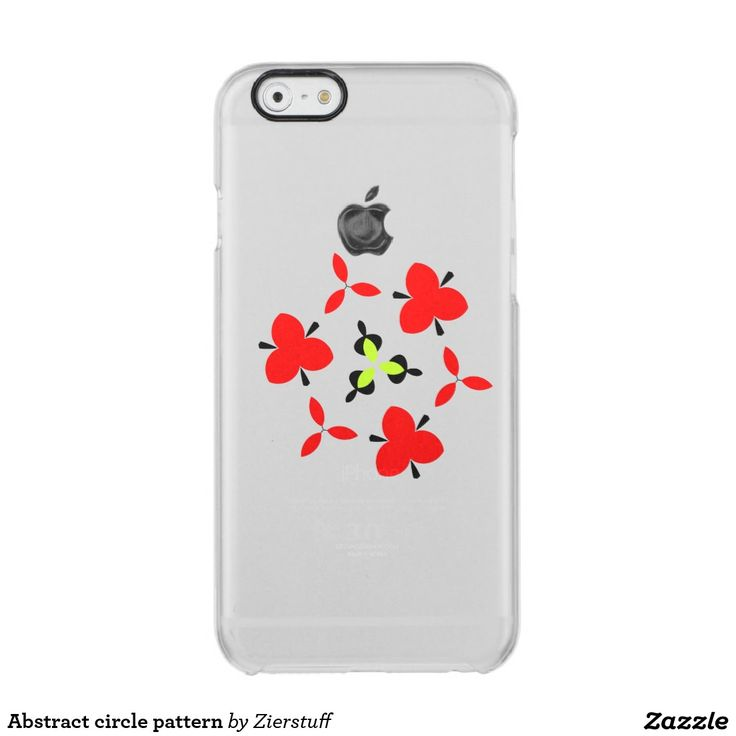 Abstract circle pattern uncommon clearly™ deflector iPhone 6 case