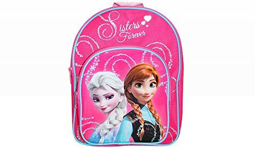Sac a dos LA REINE DES NEIGES rose Disney 30cm x 24cm MATERNELLE: Disney Frozen Forever Sisters Glitter Backpack Official Licensed…