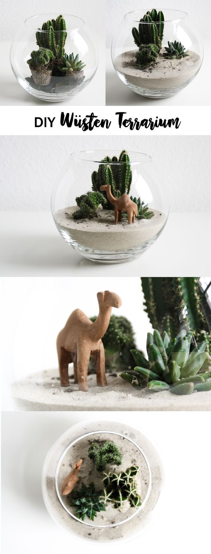 DIY small desert in the glass