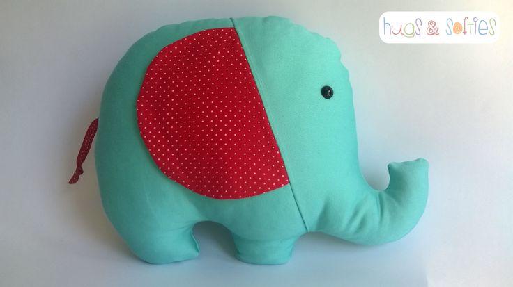 Turquoise squeeshy elephant!