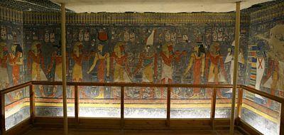 Výjev v hrobce faraóna Haremheba