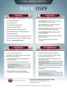 CCNA Cheat-Sheet Study Guide: OSPF