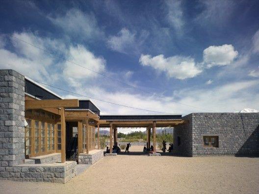 The Druk White Lotus School, Shey, India / Arup Associates #stone #wood