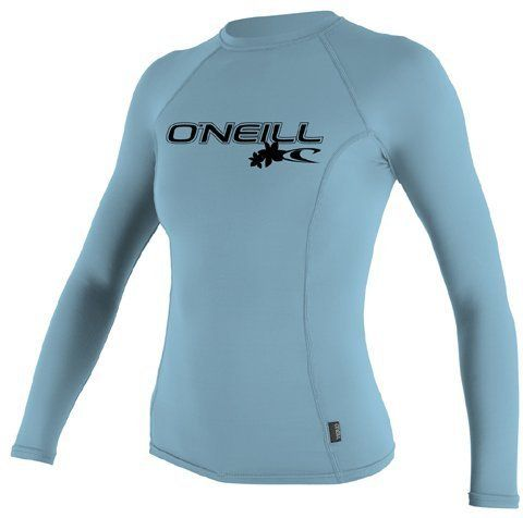 6oz Women's O'Neill Long Sleeve Rash Guard - in your choice of colors by O'Neill, http://www.amazon.com/dp/B0081LOIOY/ref=cm_sw_r_pi_dp_xiPcrb1W06VQ4