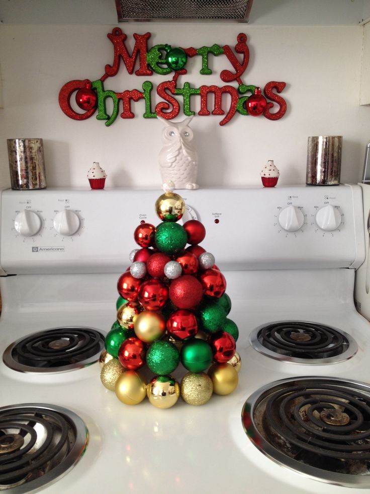 Ornament Tree I Made With Dollar Tree Ornaments For My