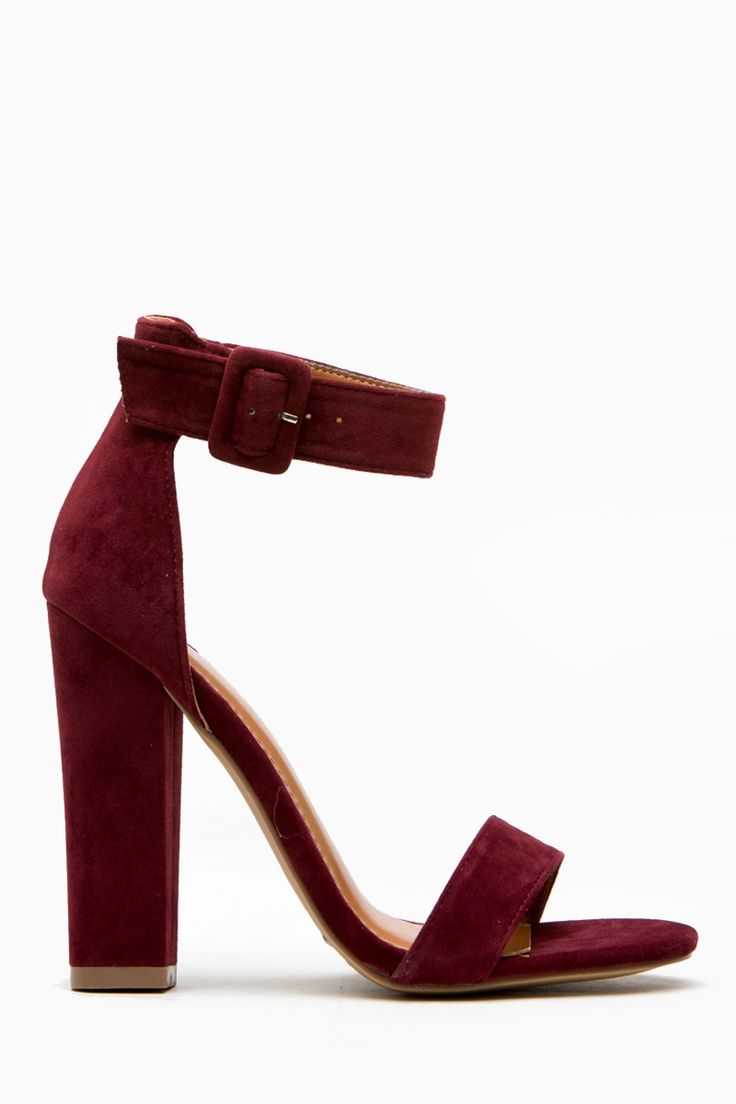 Burgundy Faux Suede Chunky Ankle Strap Heels @ Cicihot Heel Shoes online store sales:Stiletto Heel Shoes,High Heel Pumps,Womens High Heel Shoes,Prom Shoes,Summer Shoes,Spring Shoes,Spool Heel,Womens Dress Shoes