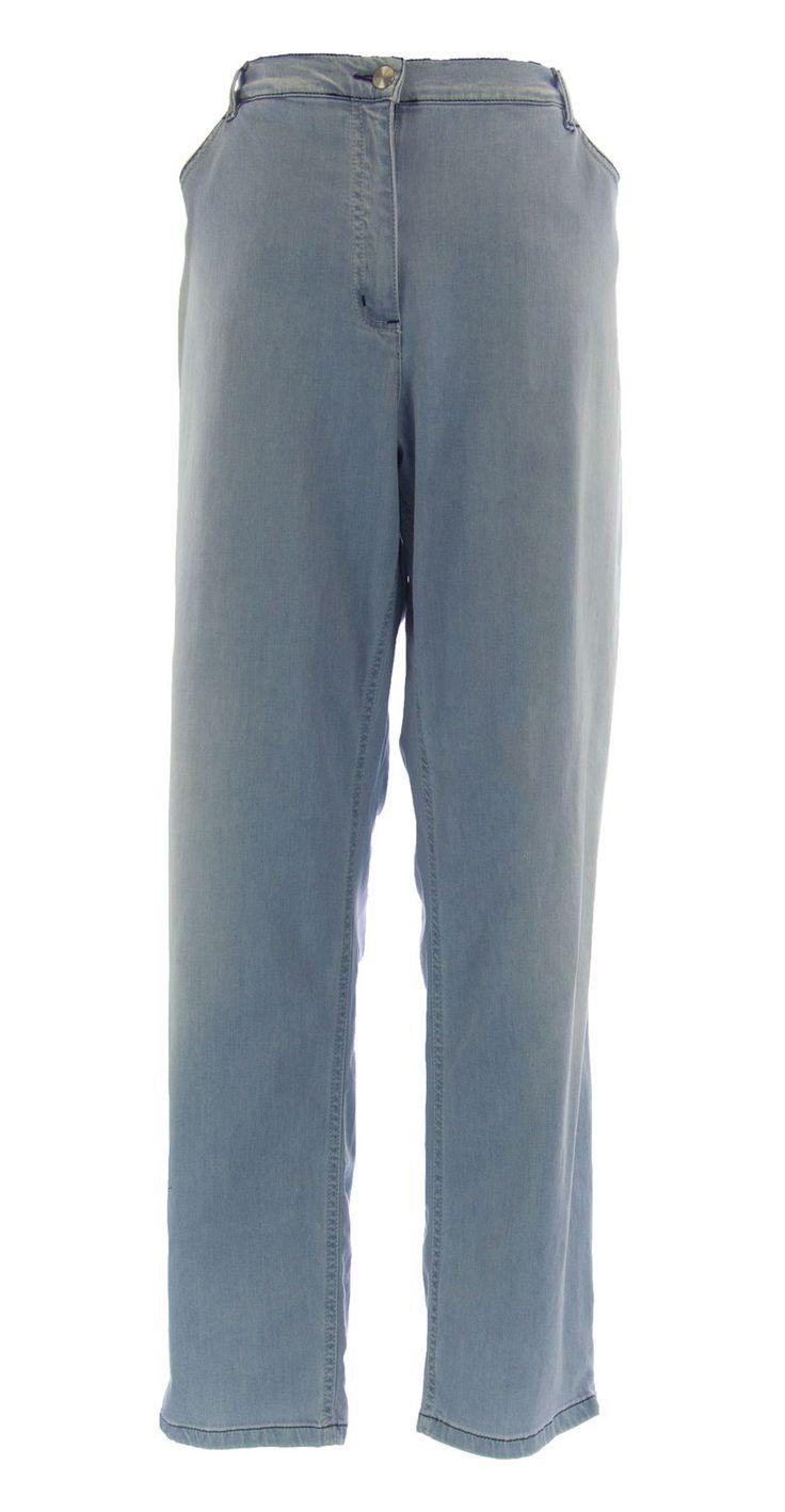 Marina Rinaldi By Maxmara Wayner Stonewash Denim Pencil Jeans $335 Nwt