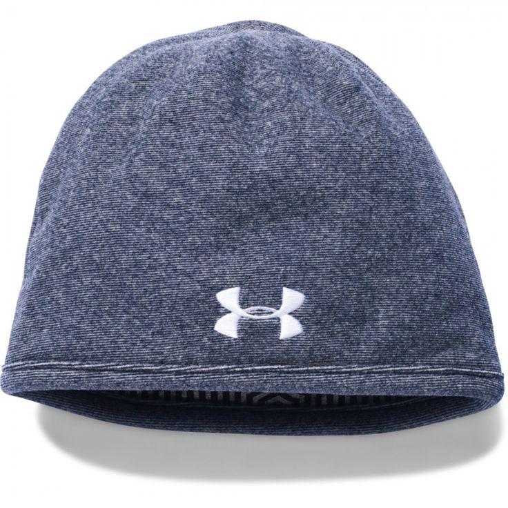 Pánská tmavě modrá čepice Under Armour vás v zimě zahřeje