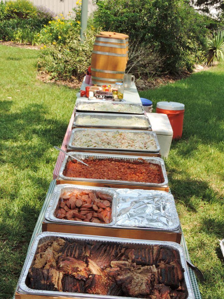 Labor Day Back Yard BBQ time! Brisket, sausage, cowboy ...