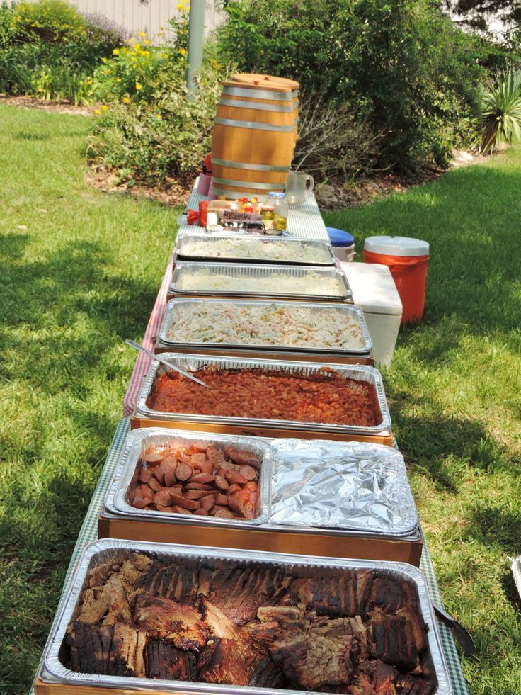 """Labor Day Back Yard BBQ time! Brisket, sausage, cowboy beans, potato salad, pasta salad, coleslaw, and peach tea. This could be your lunch! Learn More about George Ranch Historical Park's Historic Foodways here: <a href="""""""" rel=""""nofollow"""" target=""""_blank"""">www.georgeranch.o...</a> ?ut…"""