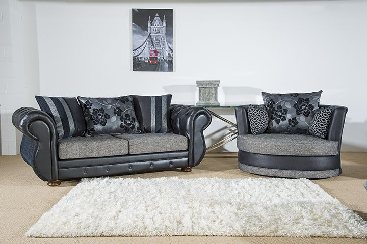 A contemporary finish with button stitch detailing gives this sofa a touch of luxury and easily adds understated style to any living space. The Rio sofa is available as a 3 + swivel cuddle chair set in various colour fabrics for just £599.  Tel: 07446824535 (Mon-Sun 9am to 9pm) Tel: 0161 620 6517 (Mon-Fri 9am to 6pm)