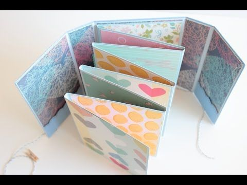 Use for Card Inspiration - Mini álbum desplegable en zig-zag (II) / Folded mini album (II) - YouTube