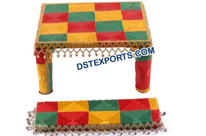 #Punjabi #Decorated #Phulkari #Maiyaan #Chownki #Dstexports