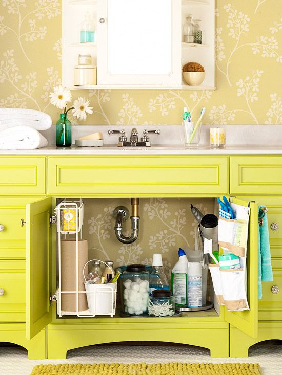 under sink storage {bathroom}