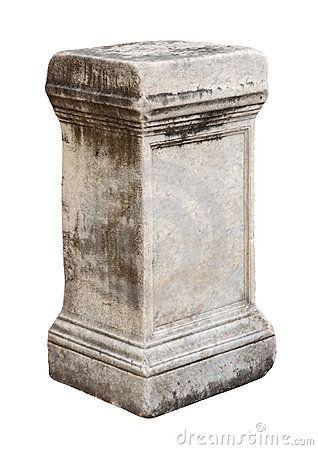 Ancient roman stone pedestal