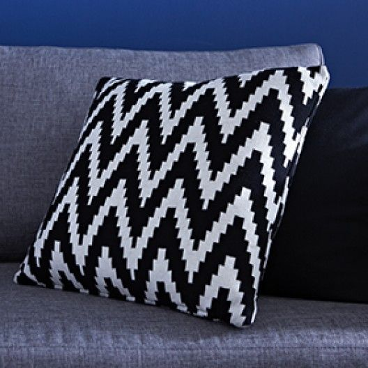 Coussin maille chevron