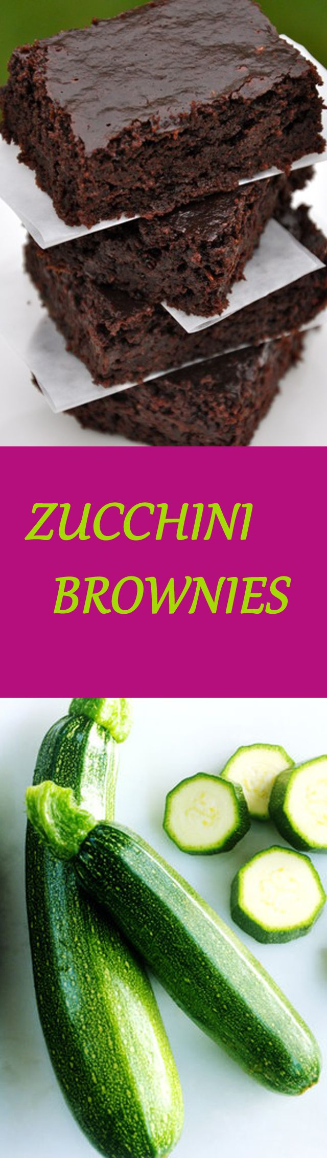 ZUCCHINI BROWNIES Click the image to get the recipe :D