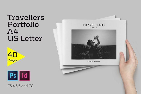 Travellers Portfolio by Firtana on @creativemarket