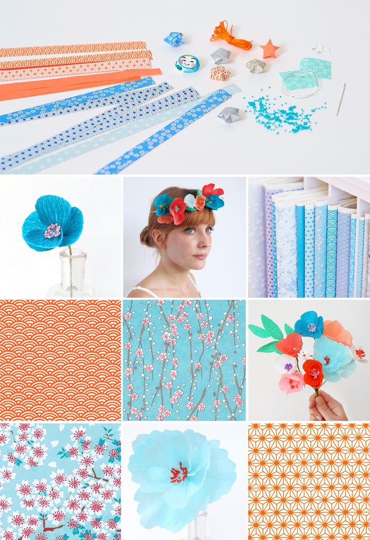 Comment associer les couleurs : bleu et orange