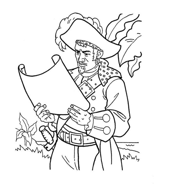 Coloring Pages Disney Pirates Caribbean : James norrington pirates of the caribbean coloring page