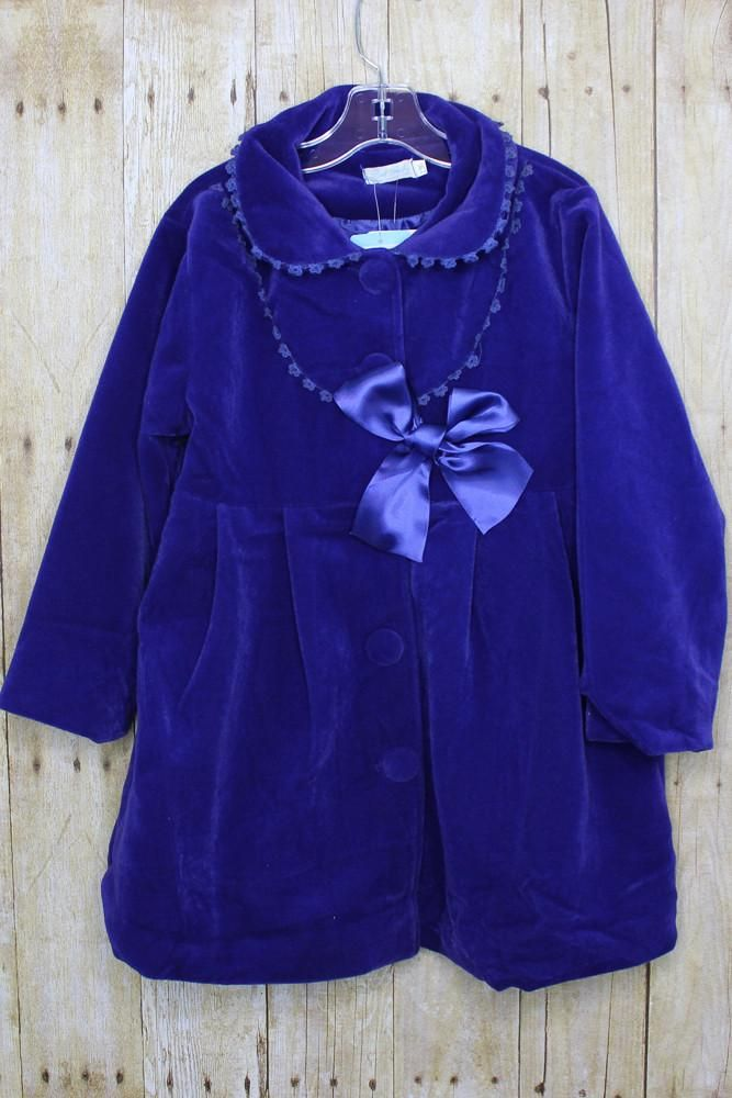 Velvet Peacoat | Kaylee's Kloset Children's Boutique
