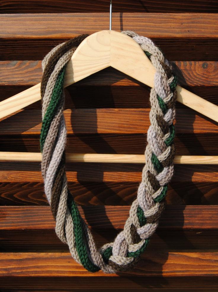 Wool braid-nacklace - ONE PIECE. €10.00, via Etsy.