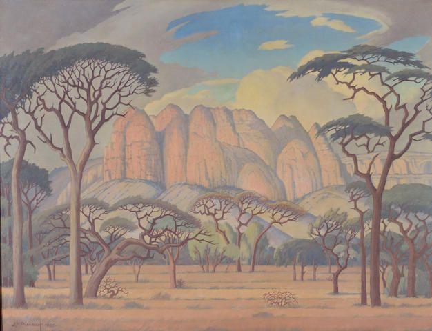 Jacob Hendrik Pierneef (South African, 1886-1957) Kransberg, Rustenburg, Transvaal